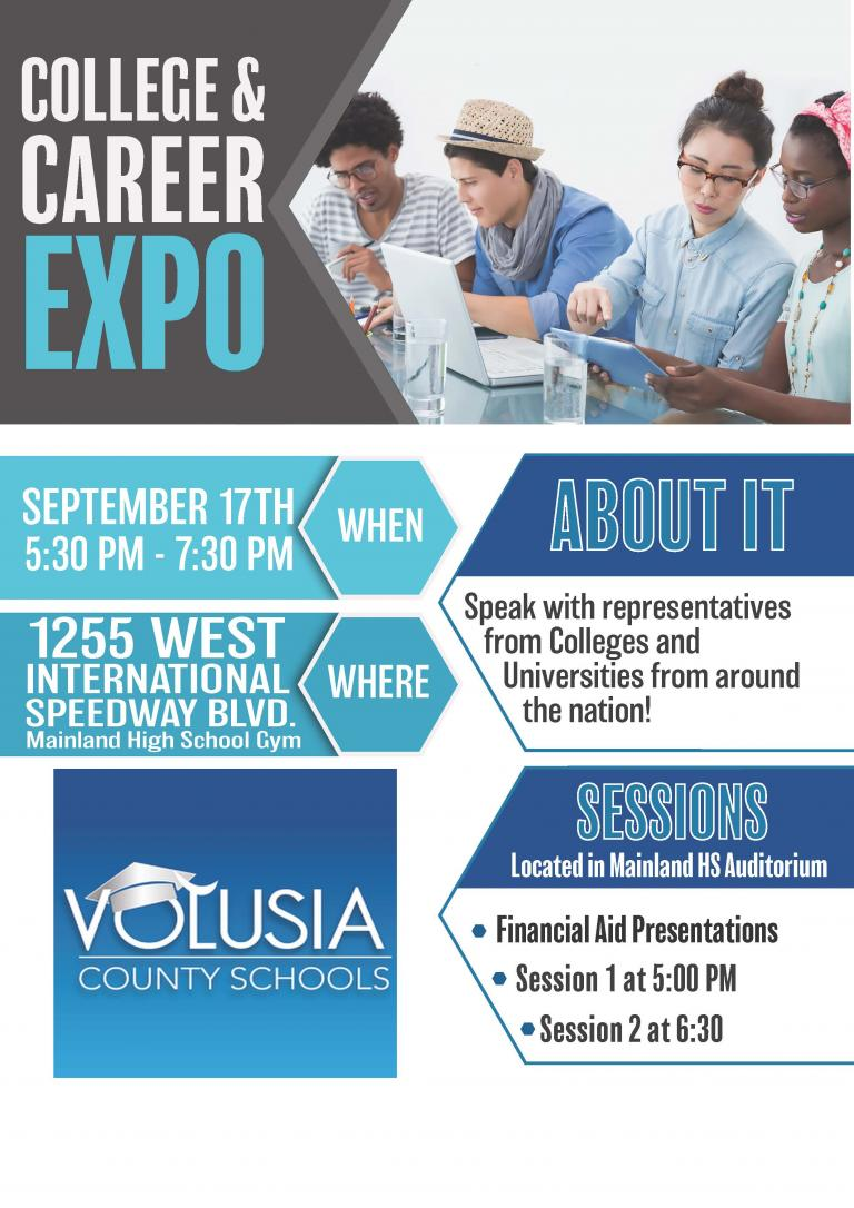 College and Career Expo 2019 flyer