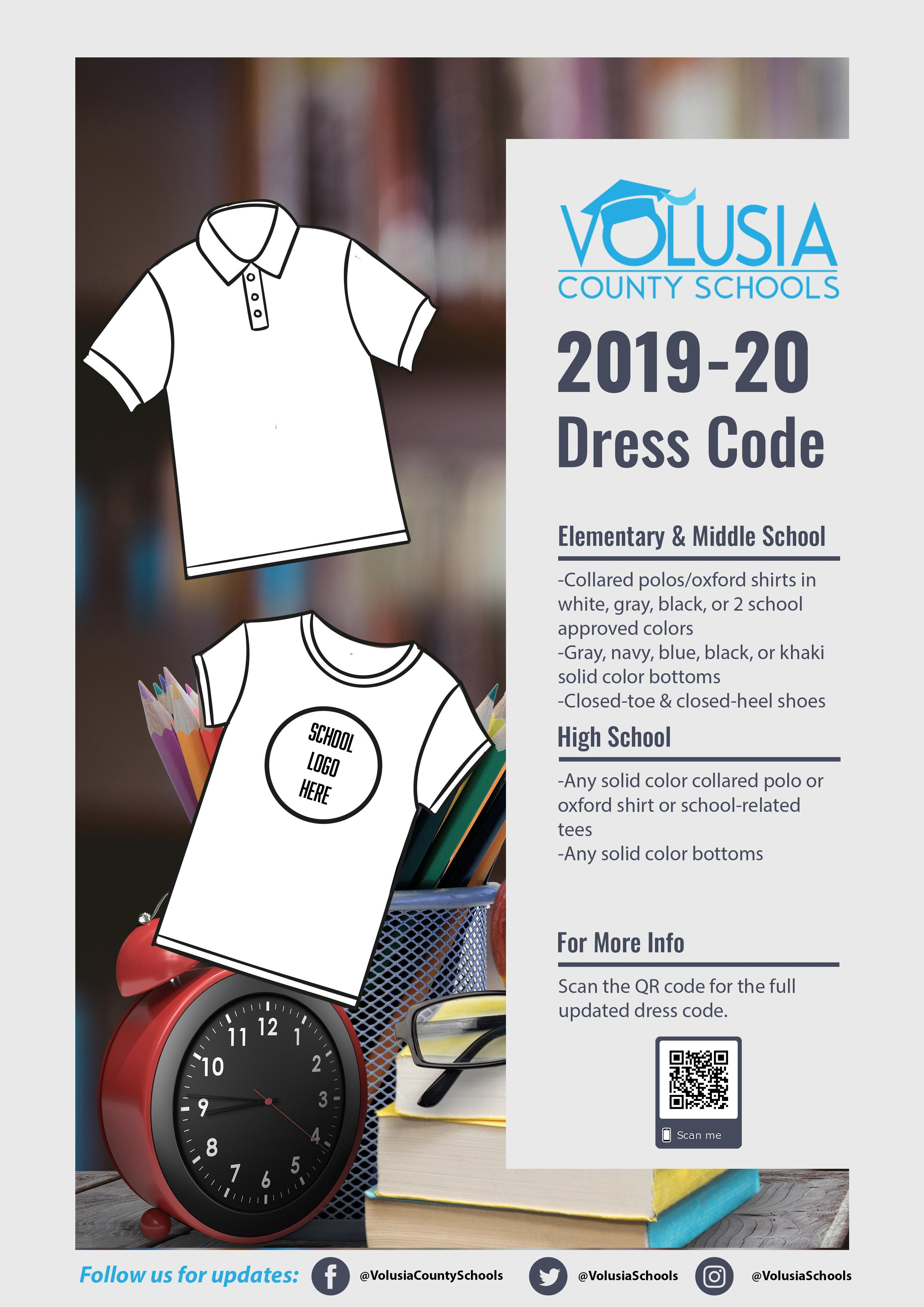 Flyer with VCS 2019-20 dress code